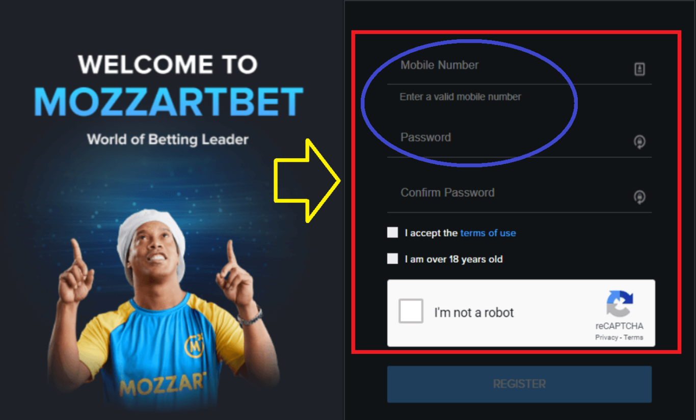 Mozzart bet login registration via SMS